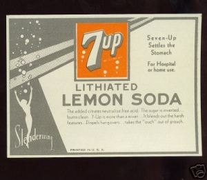 Yes, soft drinks were once used as medicines before they became regular beverage. And yes, the original 7 Up did contain lithium which is today used to treat manic depression.
