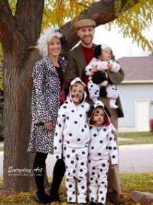 Well, this is a 101 Dalmatians family. Still, I feel for the little puppies in this picture.