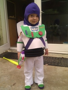 And if it's Halloween, he'll go to infinity and beyond for candy. So adorable.