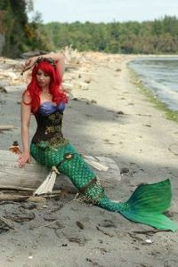 Here's Ariel with a steampunk tail. I know it might seem far-fetched. But it works.