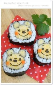 Yes, that's Winnie the Pooh sushi. Not sure if has honey. But it's so cute that you just want to eat it up.