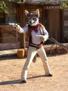 Because the lone wolves don't have the packs to back them up. So they're drifting from town to town, getting into saloon gun matches and high noon showdowns.