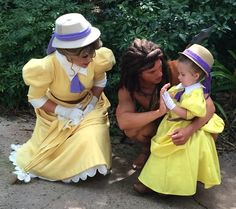 Sure Jane isn't an official Disney Princess. But I think this photo op is so cute. Like the little girl's dress.