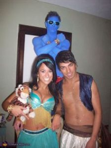 I'm not sure what to think about that Jasmine costume. But I do love Genie's.