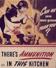 There's ammunition in this kitchen with bacon grease. And even the Nazis know that.