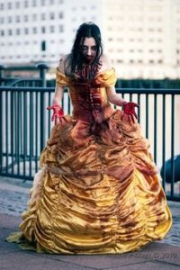 She seems more undead than anything these days. And the blood on her dress is making her seem a bit beastly.