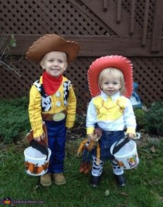 Guess these two are brother and sister and are dressed for Halloween. Still, these two are so cute.