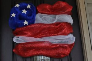 Well, this is a deco mesh flag decoration and not an exact copy. But it will be great for any patriotic home, nonetheless.