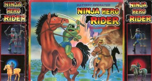 Yes, these are Ninja Turtles riding on horses with katanas. And I think they look like frogs for they don't have any shells.