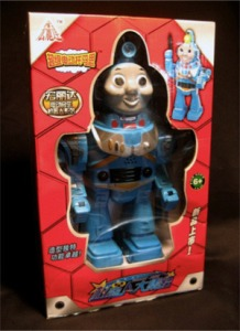 Well, their very own Thomas the Tank Engine Buzz Lightyear. Yes, I'm just as baffled by it as you are. I don't understand why this exists.