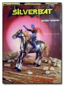 "Uh, does Batman even have a horse? Not in the bat cave. And no, he's not known as ""Silver Bat."""