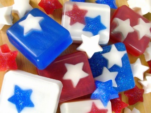 Contains stars inside and out. Will surely keep you star spangled and squeaky clean.
