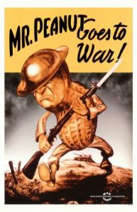 Not even corporate advertising mascots were exempt from war service. Mr. Peanut from Planter's ought to know.