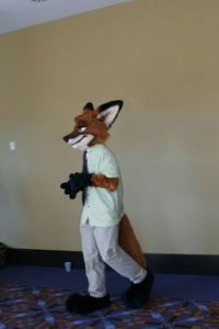 Or just a fox dressed in business attire? I can't really tell for sure.