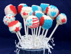Always have to have some cake pops on these posts. Yet, at least one in this set is of an American flag.