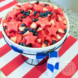 Notice how the scheme is red, white, and blue. Because you can easily pull that off with fruits thanks to blueberries.