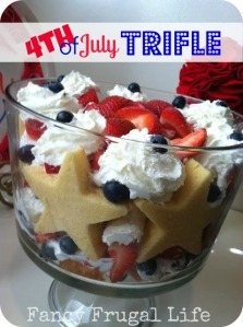 Well, I've had trifles in my last 4th of July treat post last year. But not with stars inside like in this one.