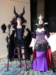 Yes, these bad girls are dressed like they're from the 19th century. Doesn't make them less menacing though.