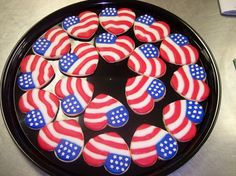 I'm sure these heart cookies are professionally made due to the star detail. But I'm sure they're a fine addition to any American 4th of July dessert platter.