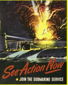 They do a bunch of cool stuff like shooting down U-boats. However, I don't see a sinking ship on fire as a glorious sight worthy of a recruitment poster.