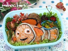 Not sure if it contains any fish. But we all should agree that this rice Nemo is so adorable.