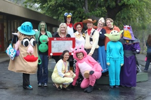 I bet you can recognize some of these Toy Story characters. I have a feeling that Mr. Potato Head took the picture.