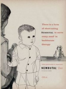 "From: Best Medical Degrees: ""Although pentobarbital is an FDA-approved sedative and is used to treat seizures and insomnia, it would seem dangerous to utilize it to treat nervous children (by inserting it as a suppository). Not only can pentobarbital impede thinking and slow reactions, it can also be addictive, while overdoses may be fatal."" Also, that kid is as creepy as hell."