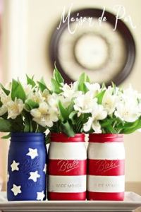 One has stars while 2 have stripes. But they seem to be used as vases than anything.