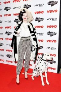 However, not sure about seeing her with a Dalmatian and in a coat like this. Makes me wonder.