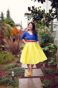 Well, this Snow White costume seems do able. Just make sure the clothing is the right color.