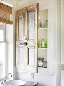 Then again, these could be shutters. But it does look good on a bathroom medicine cabinet nonetheless.