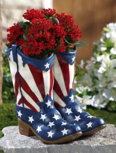 Well, the flowers certainly go with the boot design. But don't try to wear them. Really, it's not a good idea.