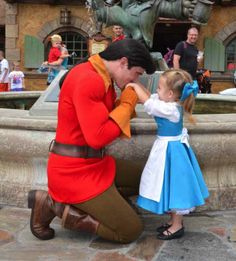 Even so, I don't this little Belle is going to accept him. But it makes a cute photo op.