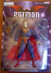 Oh, wait that's Superman. And he comes with automatic weapon accessories. If we learned from Man of Steel, we know that Superman's very capable of killing his own kind with his bare hands.