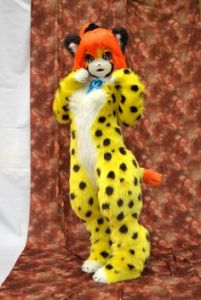 However, a real leopard will if you do something to piss it off. Not sure about the red hair though.