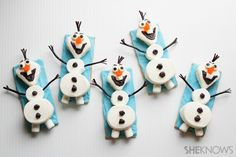 And they really seem to resemble Olaf, too. Let's hope he's not on a beach towel at the moment.