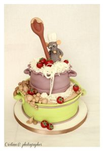 Normally, such a sight might be a chef's nightmare. But since it's on a cake honoring a Pixar film, it's adorable.