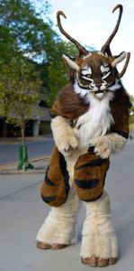 Funny how he has a goat beard, horns, and hooves. Then again, you don't want to mess with tigers.