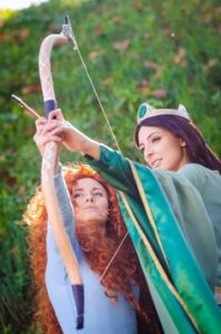 However, their relationship becomes strained when Merida is a teenager. And she ends up turning her mom into a bear.