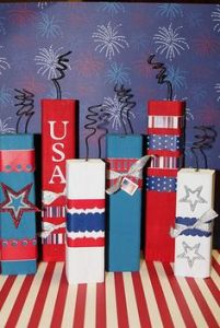 "Each one is decorated in its own way. One even says, ""USA."""