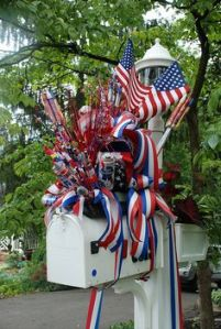 And it seems this person went all out with theirs. Includes American flags, ribbons, firecrackers, and a beer can.