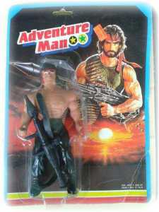 Okay, that toy looks absolutely nothing like Chuck Norris. More like a befuddled Rambo with a bazooka.