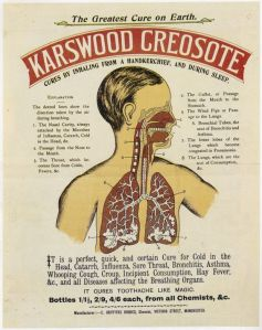 What the fuck? Creosote is a substance people call sweeps to get rid of in their chimneys. It's a toxic carcinogenic substance. Yet, here it's being promoted as medicine?