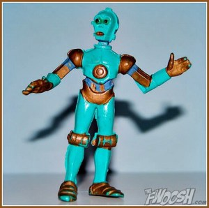 Okay, that more or less resembles C-3PO if he came from the 1960s. And no, turquoise doesn't suit him. This is wrong.