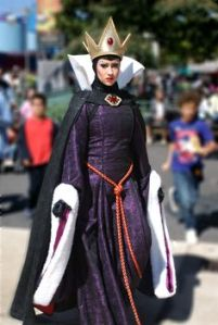 However, an evil queen is never satisfied unless she's fairest one of all. And she's willing to resort to putting an ugly disguise and poisoning her stepdaughter to have that.