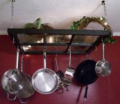 Well, that's pretty ingenious. Wonder how many pots and pans this holds.