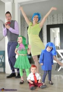 This must be an Inside Out family. Too bad the dad is scared while the kids are sad, angry, and disgusted.
