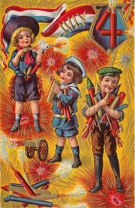 However, this doesn't mean kids should get a hold of fireworks or weapons. That boy at the top already has one lit which makes it only a matter of time before he gets blown up. Seriously, who the hell thought this card was a good idea?