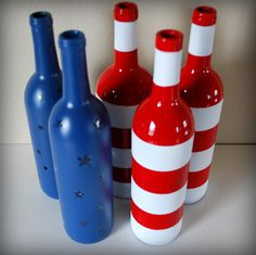 However, you don't drink out of them because they're for display. Consists of 2 blue with stars and 3 with red and white stripes.