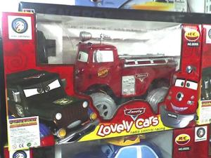 Uh, I don't think these were in the movie. Includes a police car and fire truck.